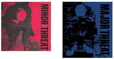 nike rips off oldschool punk album art, poster and minor threat album cover almost exactly the same