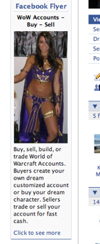 facebook promotes wow gold