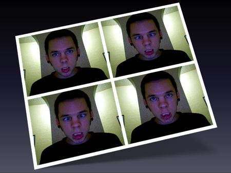 me playing with photobooth