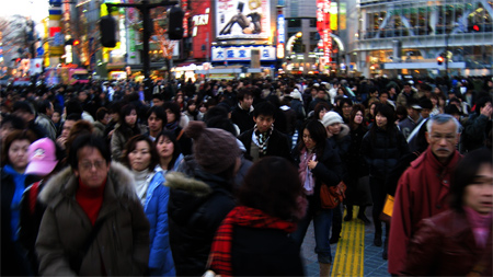 shibuya, every three minutes - photo by jeremy clarke