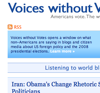 Voices without Votes - America votes, the world speaks